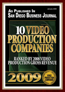 San Diego Business Journal List of Top Video Production Companies