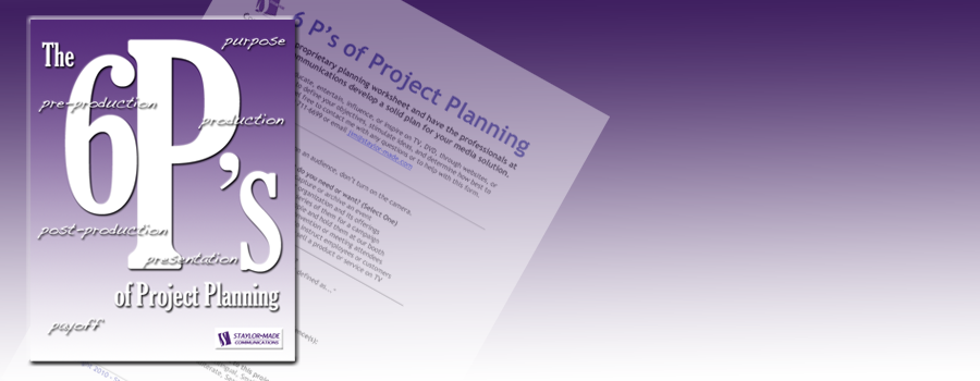 Promo for project planner worksheet